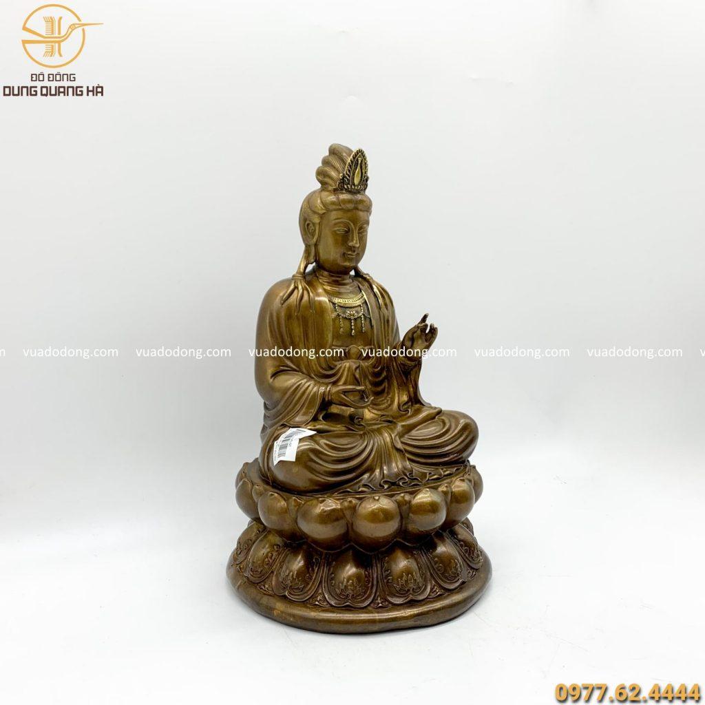 Tượng Phật Đại Thế Chí giả cổ 30cm