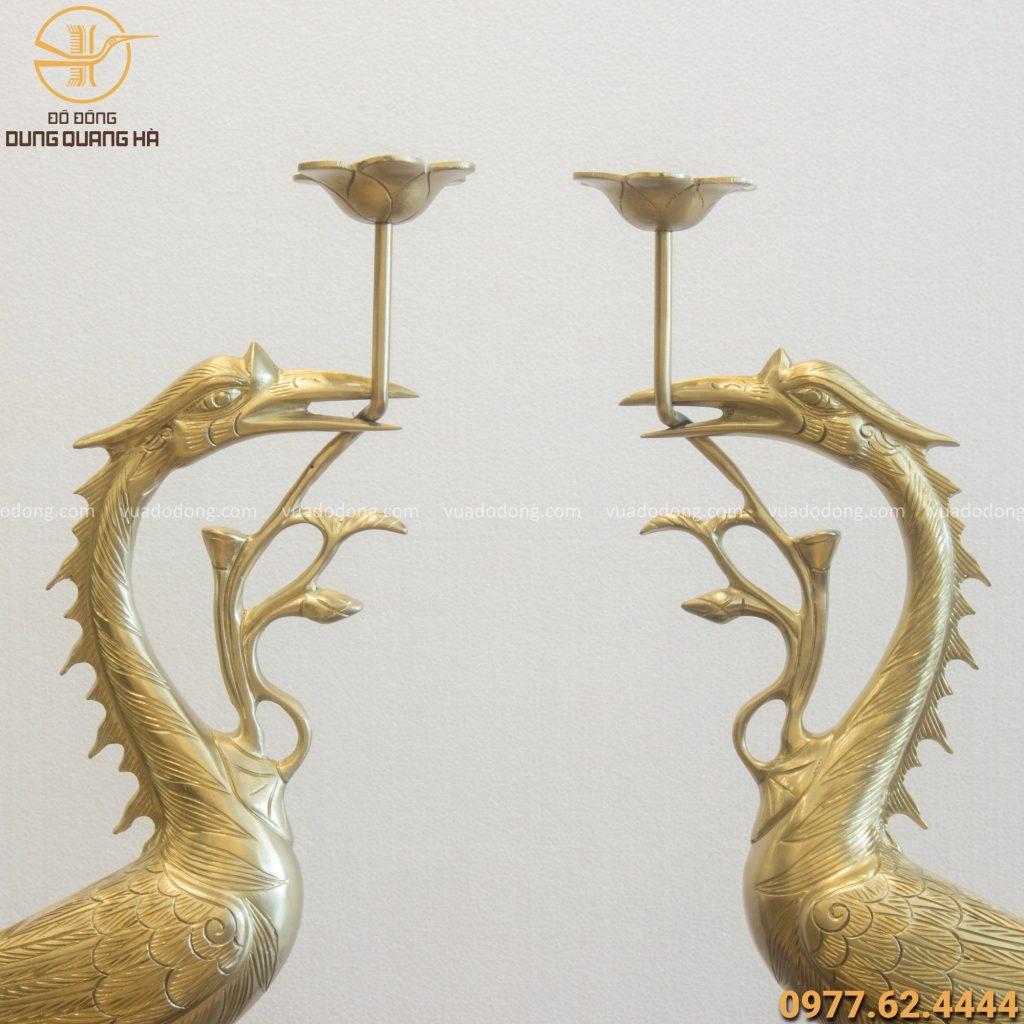 Hạc thờ bằng đồng catut cao 70cm