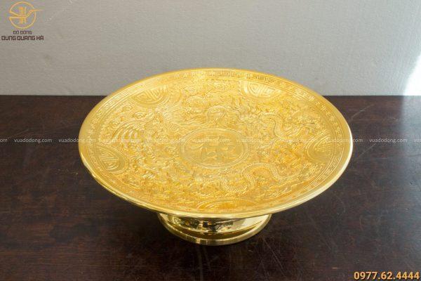 Mâm bồng bằng đồng mạ vàng đẹp, sang trọng