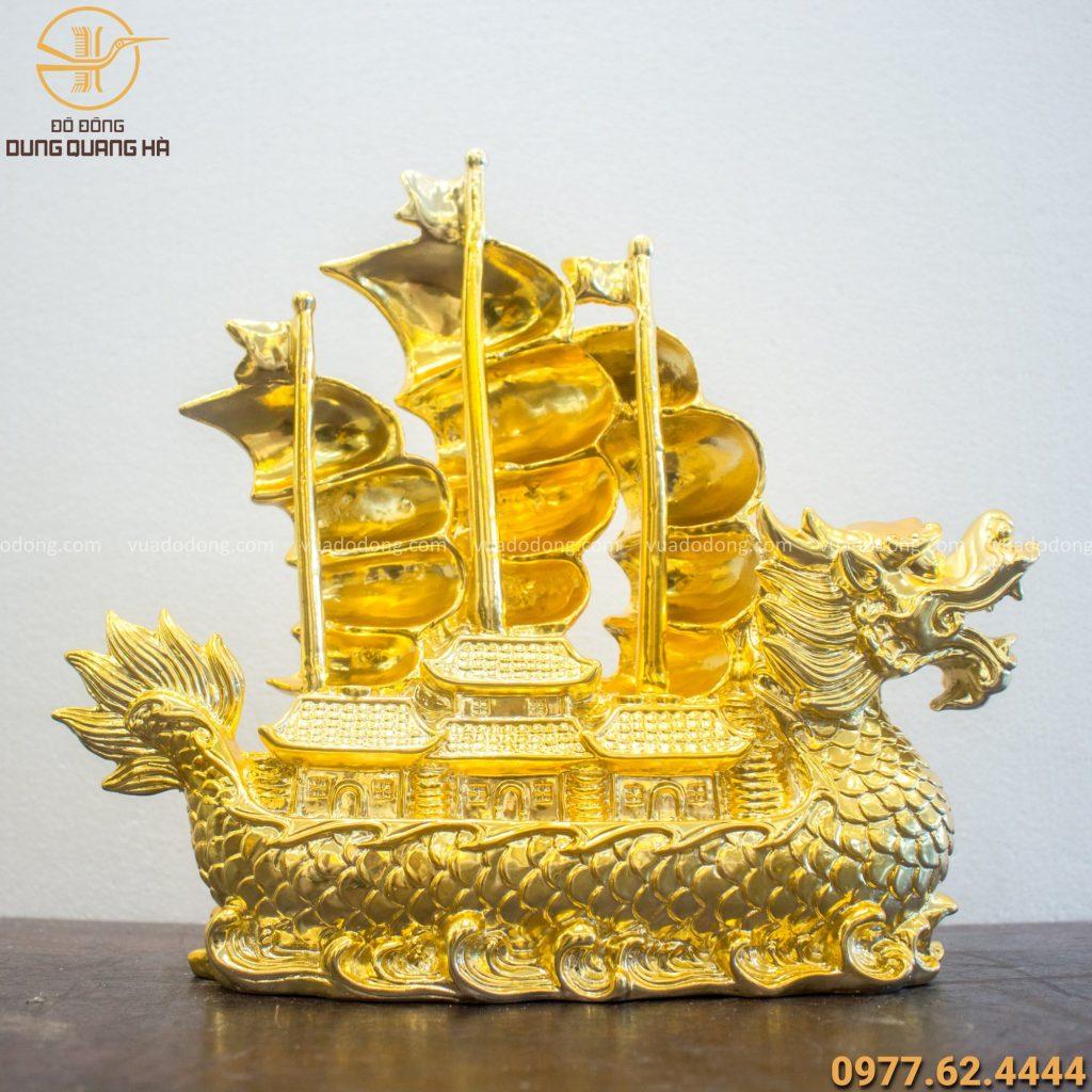 Thuyền rồng mạ vàng 24K