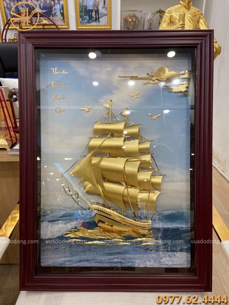 Tranh thuận buồm xuôi gió mạ vàng kích thước 60 x 80