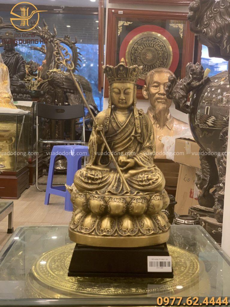 Phật địa tạng đồng vàng cao 30cm