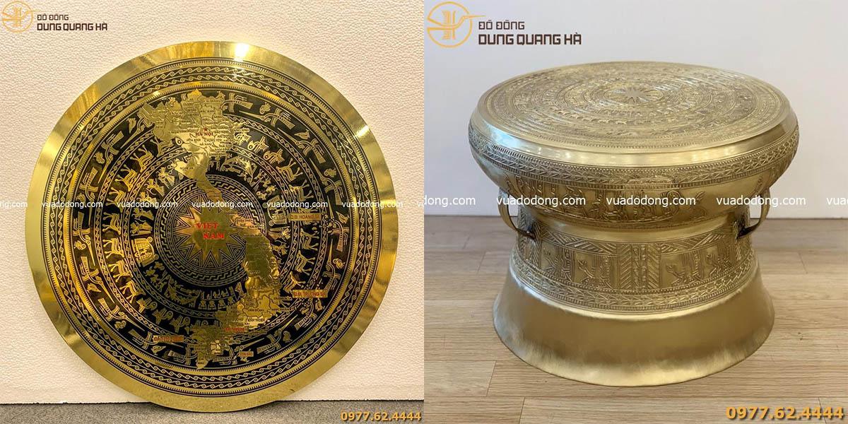 Tranh mặt trống đồng và trống đồng lưu niệm