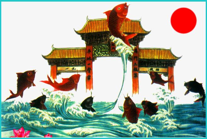 Tranh cá chép hóa rồng
