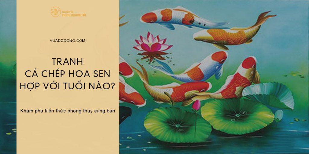 Tranh cá chép hoa sen hợp với tuổi nào