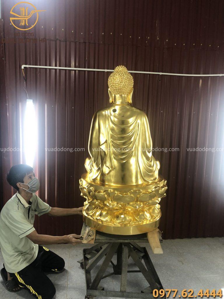 Tượng Phật Thích Ca 1m thếp vàng 9999