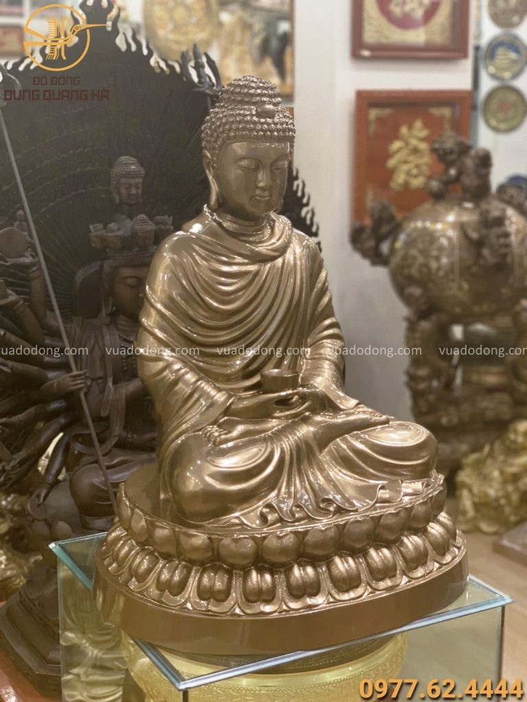 Tượng Phật Thích Ca bằng đồng đỏ cao 70cm