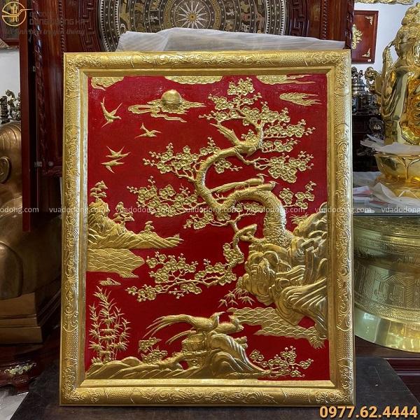 Tranh Vinh Hoa Phú Quý thếp vàng đẹp tinh xảo 1m07 x 88cm