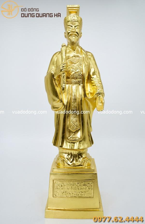 Tượng Lý Thái Tổ thếp vàng 9999