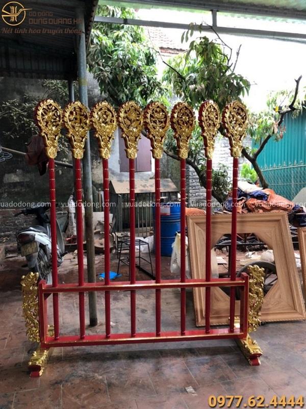 Bộ bát bửu dành cho Phật giáo - Cao 2m2 sơn son thếp vàng