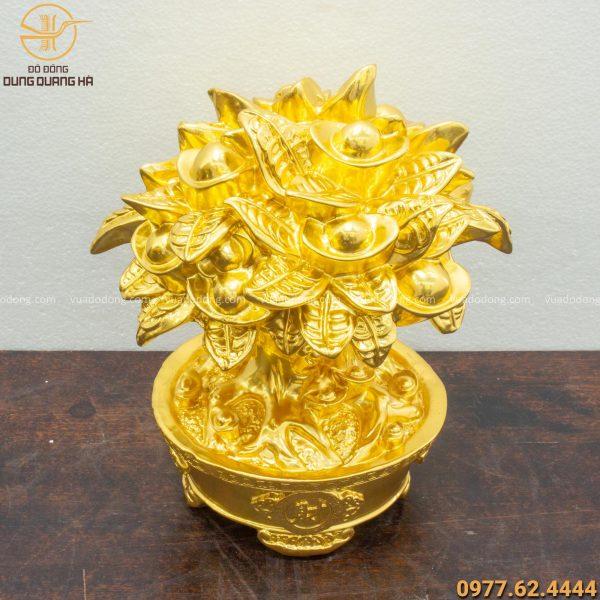 Cây tiền mạ vàng 24k cao 21cm