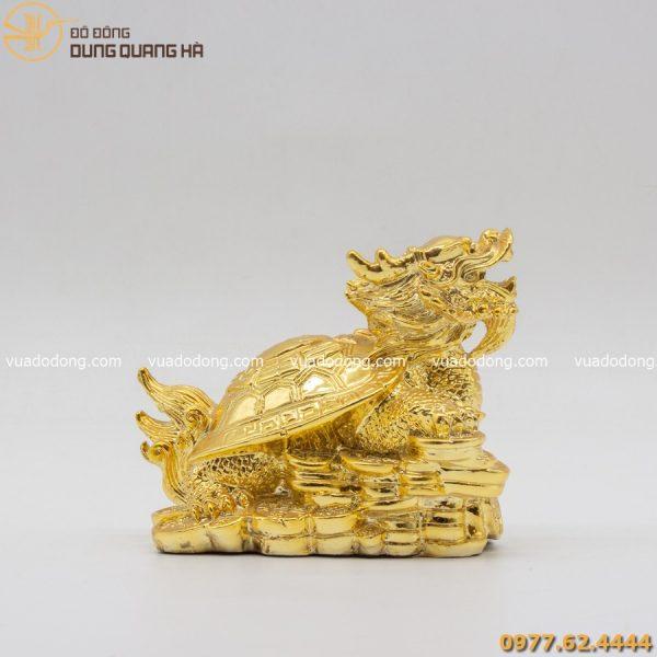 Tượng long quy mạ vàng 24k đẹp - sang trọng
