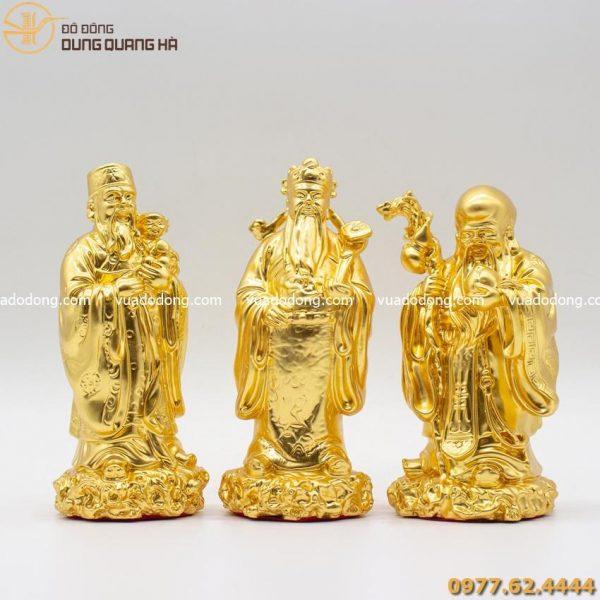 Tượng Tam Đa Phúc Lộc Thọ thếp vàng 9999