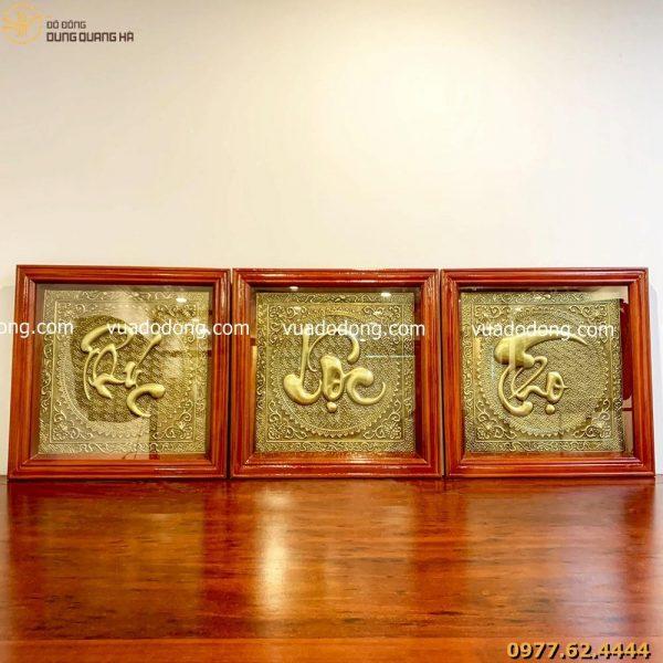 Bộ tranh chữ bằng đông Phúc - Lộc - Thọ