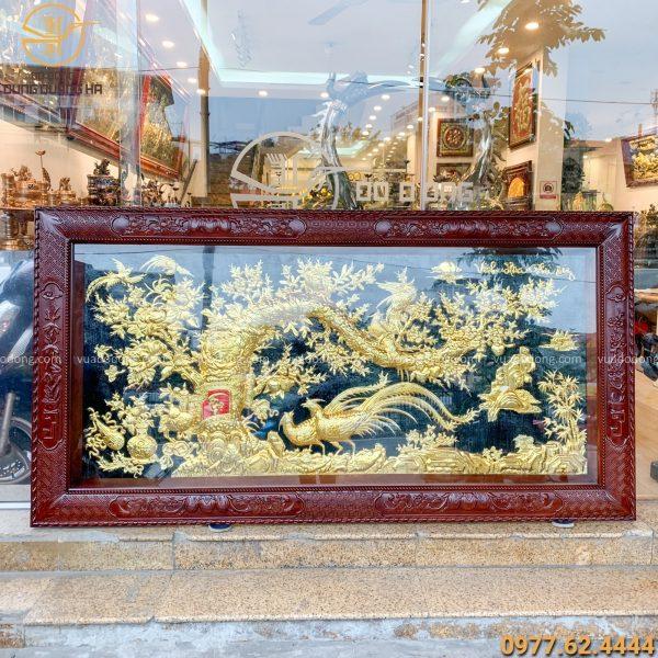 Tranh Vinh hoa phú quý mạ vàng kích thước 2m3