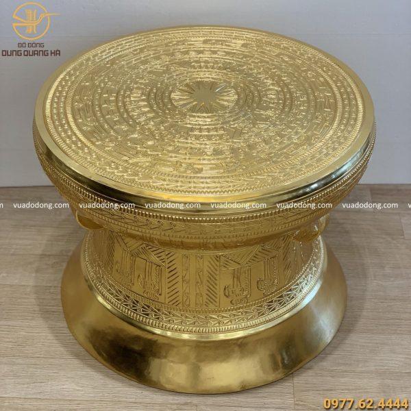 Mẫu trống đồng dát vàng 9999 cao 60cm