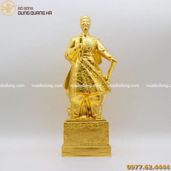 Tượng Hưng Đạo Vương Trần Quốc Tuấn dát vàng 9999