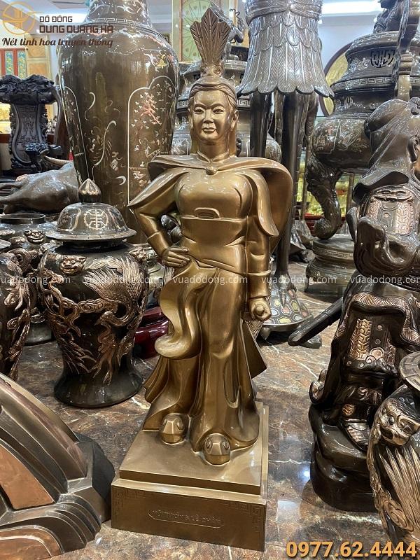 Tượng đồng nữ tướng Lê Chân đẹp tinh xảo uy nghiêm cao 90cm