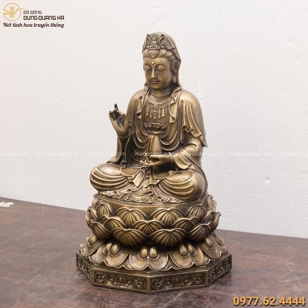 Tượng Phật Quan Thế Âm Bồ Tát hun giả cổ đẹp tôn nghiêm