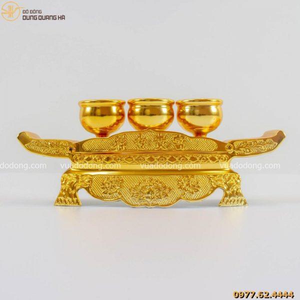Bộ ngai chén thờ mạ vàng 24k đẹp, chất lượng cao