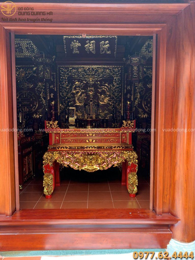 Không gian nhà thờ họ Nguyễn Khắc tại Hồng Lĩnh - Hà Tĩnh
