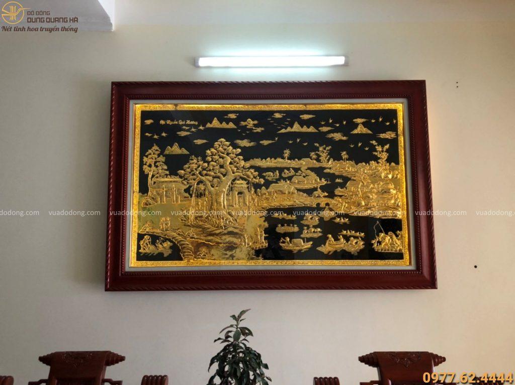 Tranh đồng quê mạ vàng cao 1m5x2m37