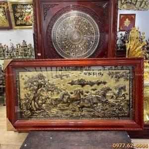 Tranh Mã Đáo Thành Công xước giả cổ tinh xảo 1m7 x 90cm