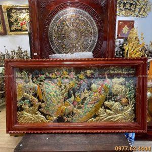 Tranh Ngọc Đường Phú Quý 1m7 x 90cm màu sắc độc đáo ấn tượng