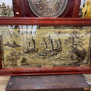 Tranh Thuận Buồm Xuôi Gió xước giả cổ mẫu mới 1m7 x 90cm