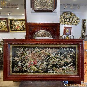 Tranh Vinh Hoa Phú Quý đẹp bằng đồng kích thước 2m3 x 1m2