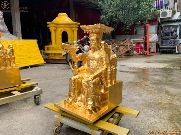 Tượng Vua Cha Ngọc Hoàng bằng đồng dát vàng 9999 cao 70cm
