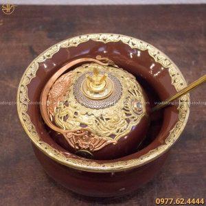 Điếu cày Chivas bọc đồng màu sắc độc đáo đường kính 20cm