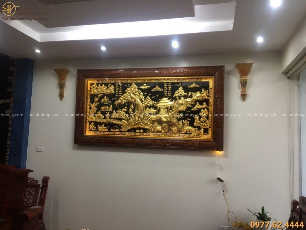 Giao tranh vinh quy bái tổ dát vàng 9999