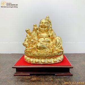 Tượng Phật Di Lặc ngũ phúc bằng đồng dát vàng thiết kế tinh xảo