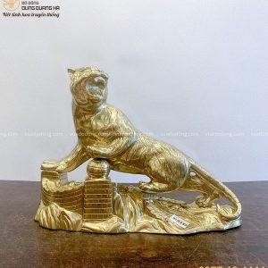 Tượng ông Hổ phong thủy bằng đồng catut kích thước 42x32cm