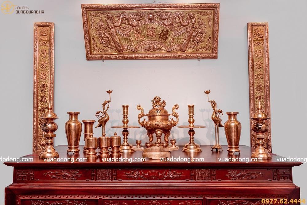 đồ thờ cúng bằng đồng giá bao nhiêu