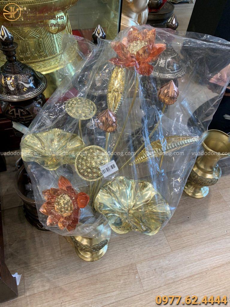 Hoa sen bằng đồng