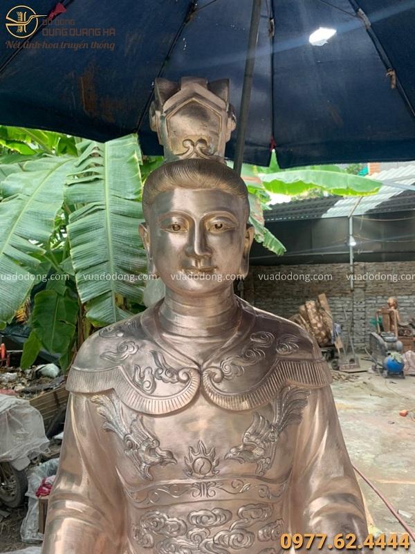 Tượng Bà Chúa Lộc tôn nghiêm bằng đồng đỏ cao 1m8 nặng 700kg