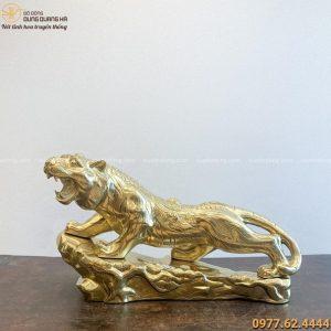 Tượng Hổ phong thủy bằng đồng catut kích thước 64x36 cm