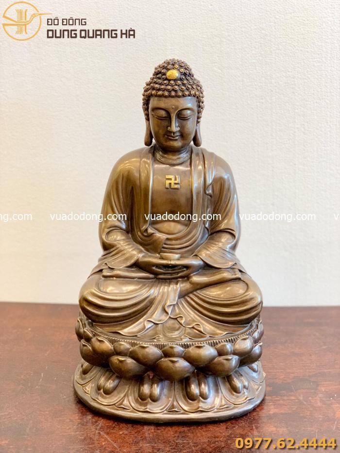Tượng Phật A Di Đà đẹp nhất bằng đồng đỏ nguyên chất