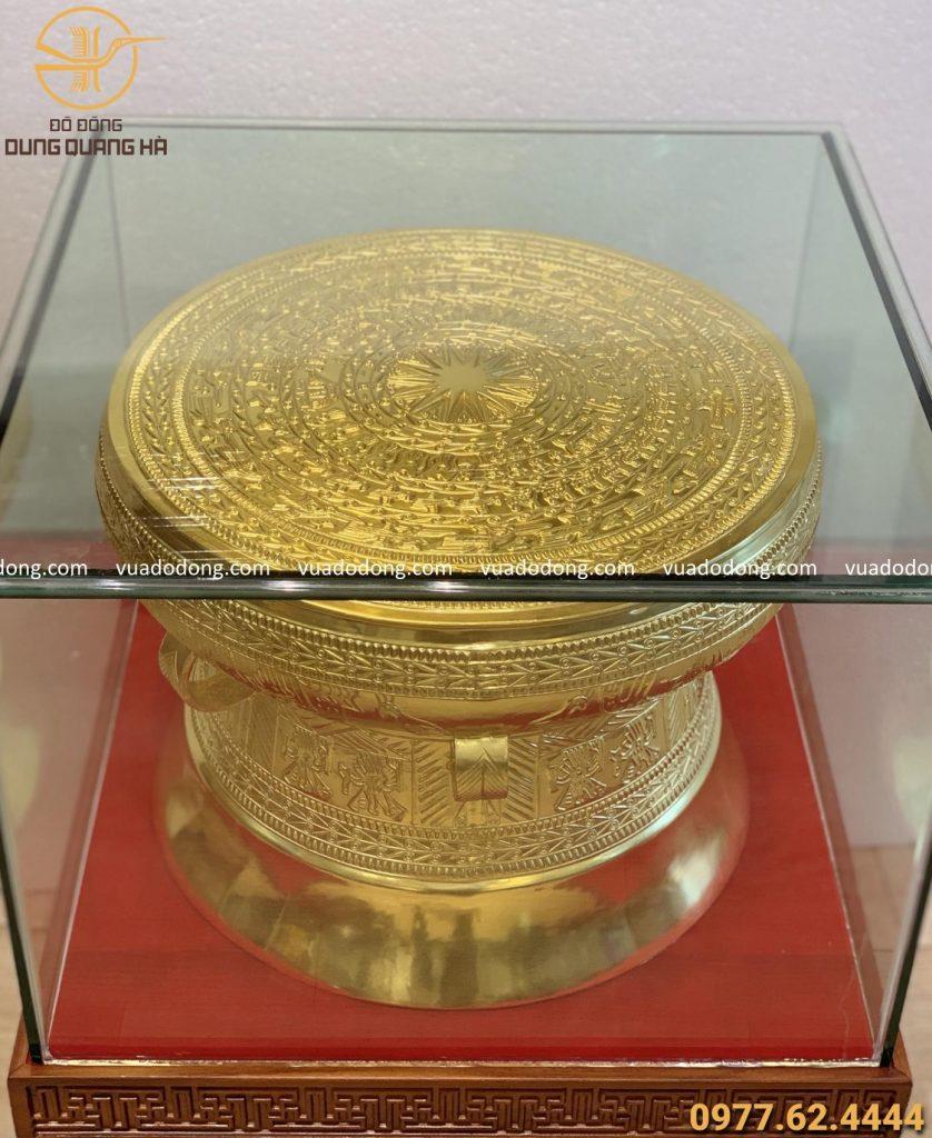 Trống đồng dát vàng 9999 tinh xảo