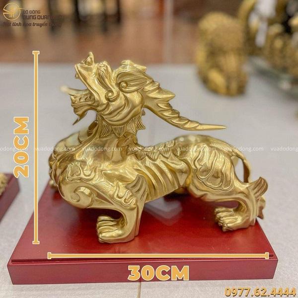 Con Tỳ Hưu đẹp bằng đồng catut cao 20cm dài 30cm nặng 12 kg